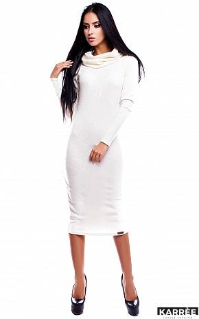 Платье Флорес, Молоко - фото 2