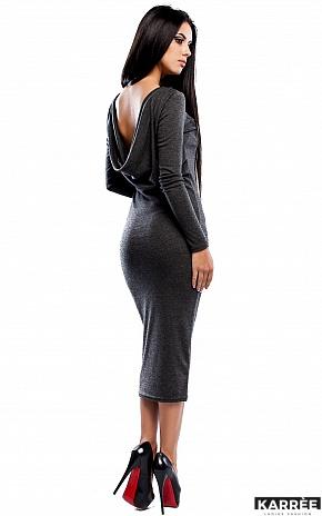 Платье Николь, Темно-серый - фото 3