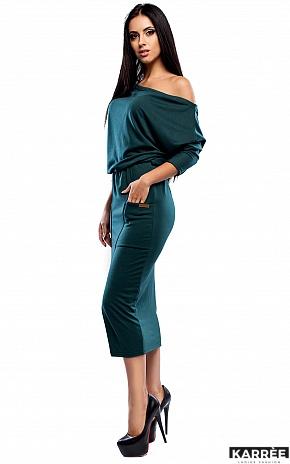 Платье Белиз, Темно-зеленый - фото 2