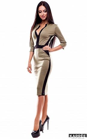 Платье Тинея, Оливковый - фото 2