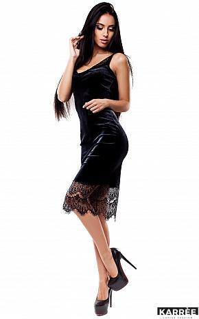 Платье Альба, Черный - фото 3
