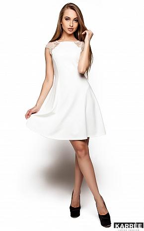 Платье Скотти, Молоко - фото 1