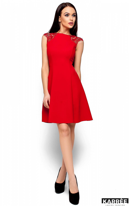 Платье Скотти, Красный - фото 4