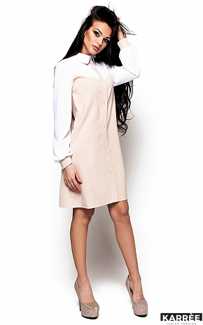 Платье Персея, Бежевый - фото 2