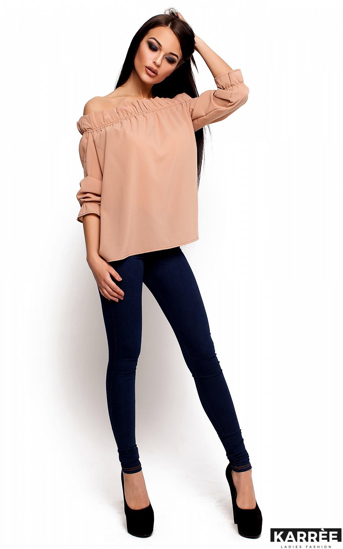 Блуза Джен, Бежевый - фото 2