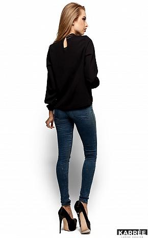 Блуза Майя, Черный - фото 3