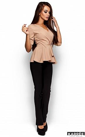 Блуза Касио, Бежевый - фото 2