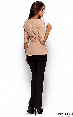 Блуза Касио, Бежевый - фото 3