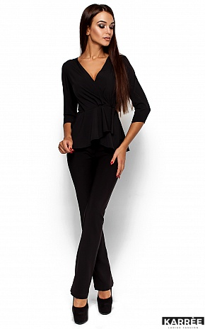Блуза Касио, Черный - фото 1