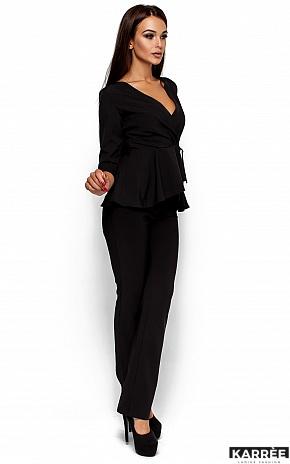 Блуза Касио, Черный - фото 2