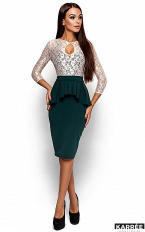Платье Мускат, Темно-зеленый - фото 1