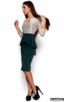Платье Мускат, Темно-зеленый