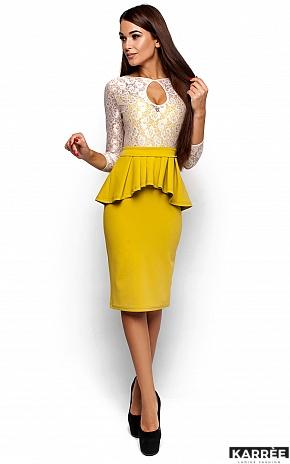 Платье Мускат, Горчичный - фото 1