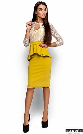 Платье Мускат, Горчичный - фото 2