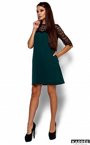 Платье  Ангола, Темно-зеленый - фото 1