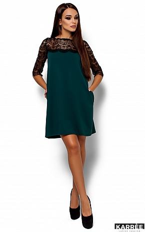 Платье  Ангола, Темно-зеленый - фото 2