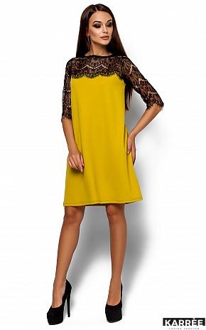 Платье  Ангола, Горчичный - фото 1