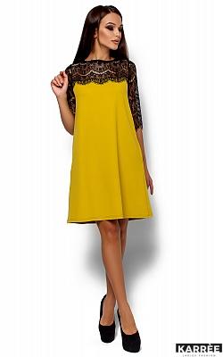 Платье  Ангола, Горчичный