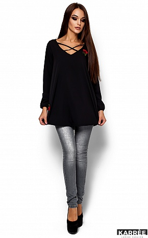 Блуза Ингрид, Черный - фото 1