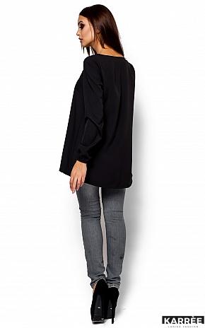 Блуза Ингрид, Черный - фото 3