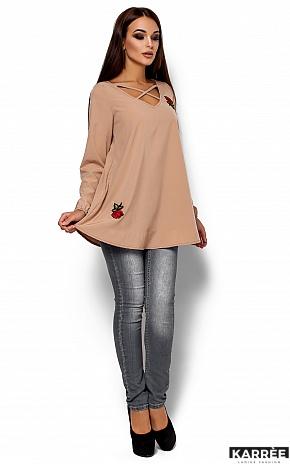 Блуза Ингрид, Бежевый - фото 1