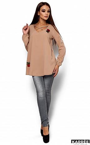 Блуза Ингрид, Бежевый - фото 2