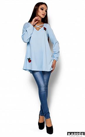 Блуза Ингрид, Голубой - фото 1