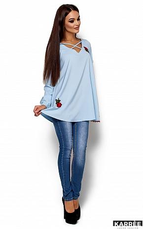Блуза Ингрид, Голубой - фото 2
