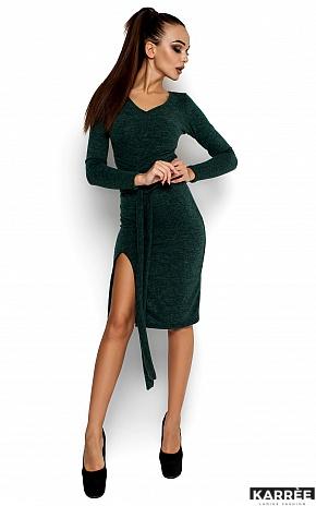Платье Лейсан, Темно-зеленый - фото 1
