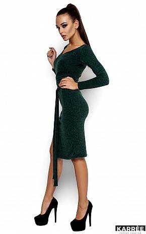 Платье Лейсан, Темно-зеленый - фото 2