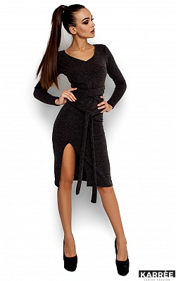 Платье Лейсан, Темно-серый