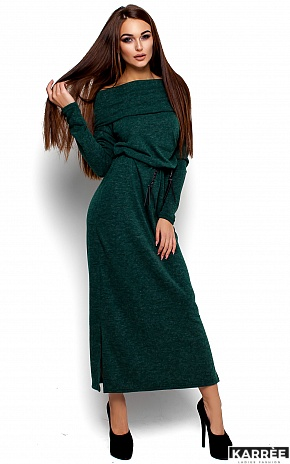 Платье Амбиция, Темно-зеленый - фото 1