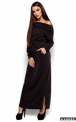 Платье Амбиция, Темно-серый - фото 2