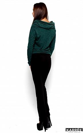 Свитер Лилу, Темно-зеленый - фото 3
