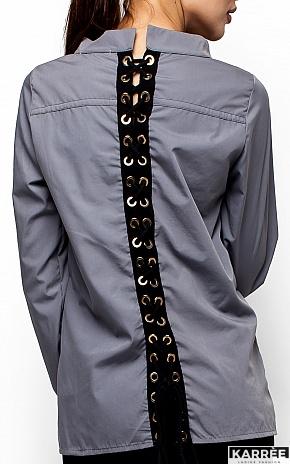 Рубашка Шарлотт, Серый - фото 4