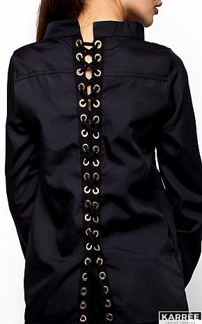 Рубашка Шарлотт, Черный - фото 4