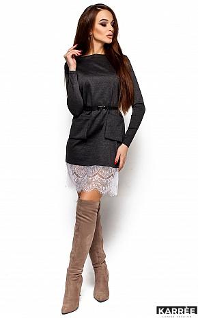 Платье Вегас, Темно-серый - фото 4