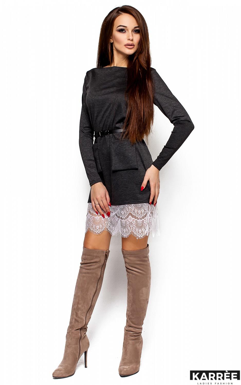Платье Вегас, Темно-серый - фото 1