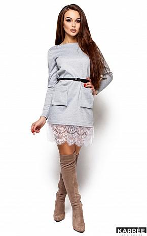 Платье Вегас, Серый - фото 4