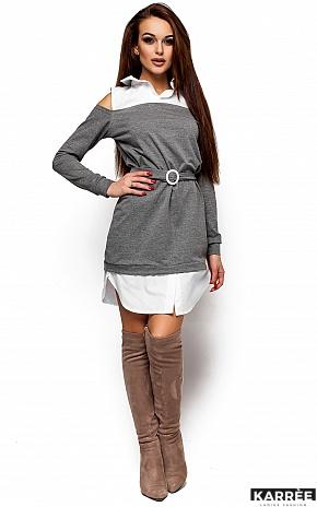 Платье Ребека, Серый - фото 1