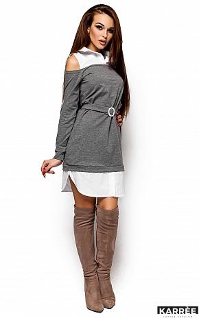 Платье Ребека, Серый - фото 4