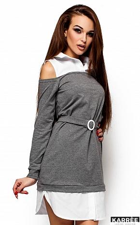 Платье Ребека, Серый - фото 2