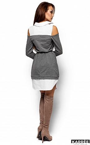 Платье Ребека, Серый - фото 3