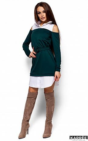Платье Ребека, Темно-зеленый - фото 1