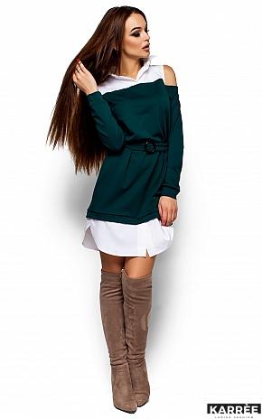 Платье Ребека, Темно-зеленый - фото 4