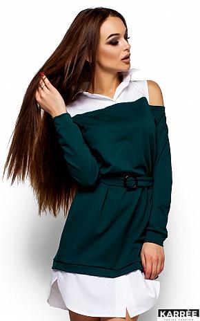 Платье Ребека, Темно-зеленый - фото 2