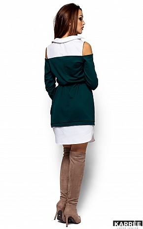 Платье Ребека, Темно-зеленый - фото 3
