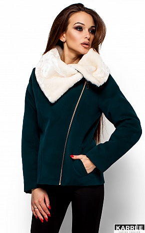 Пальто Аманда, Темно-зеленый - фото 2