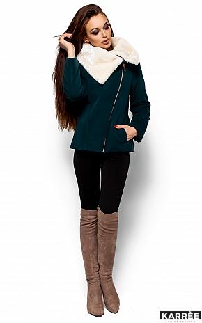 Пальто Аманда, Темно-зеленый - фото 1