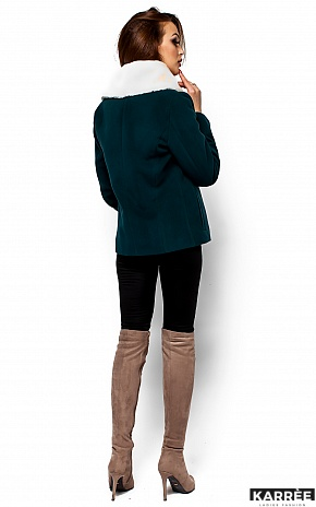 Пальто Аманда, Темно-зеленый - фото 3